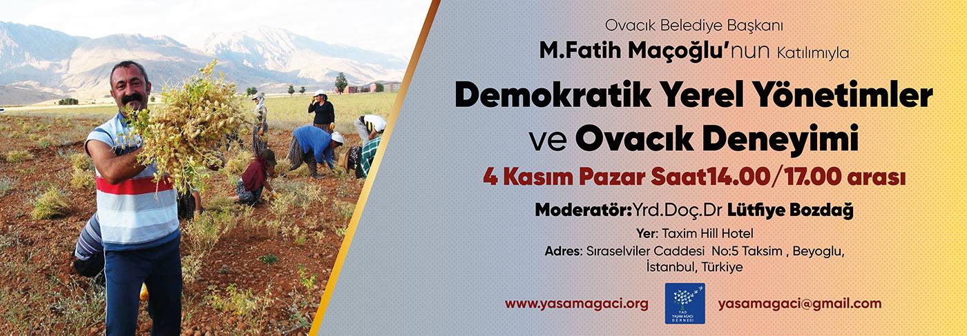 4 Kasımda yerel yönetimler konulu panel